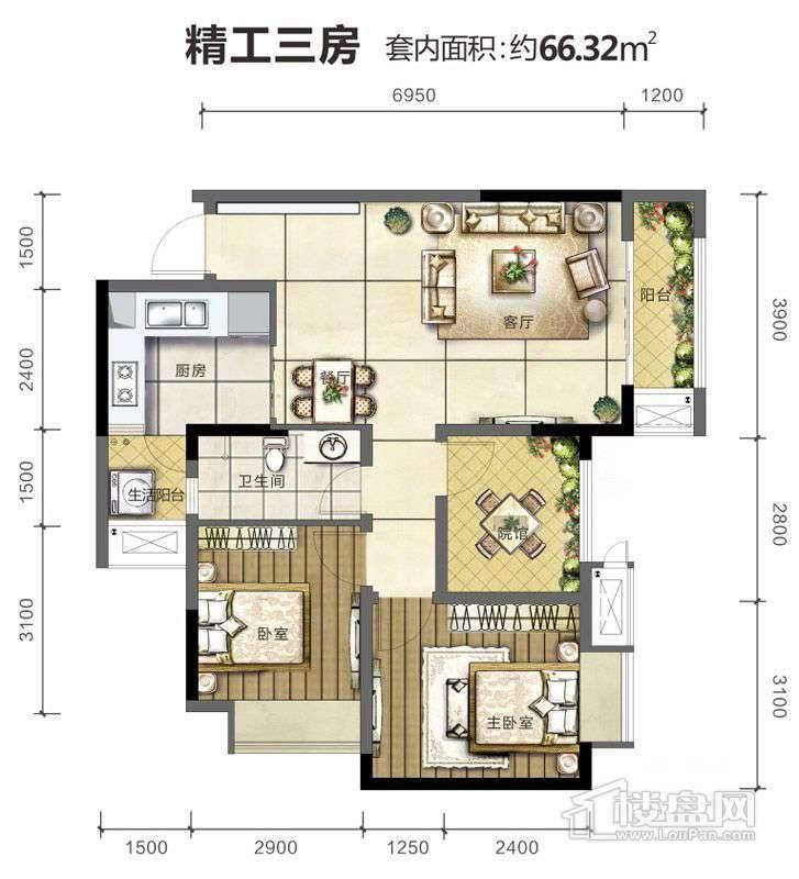 旭阳台北城户型图