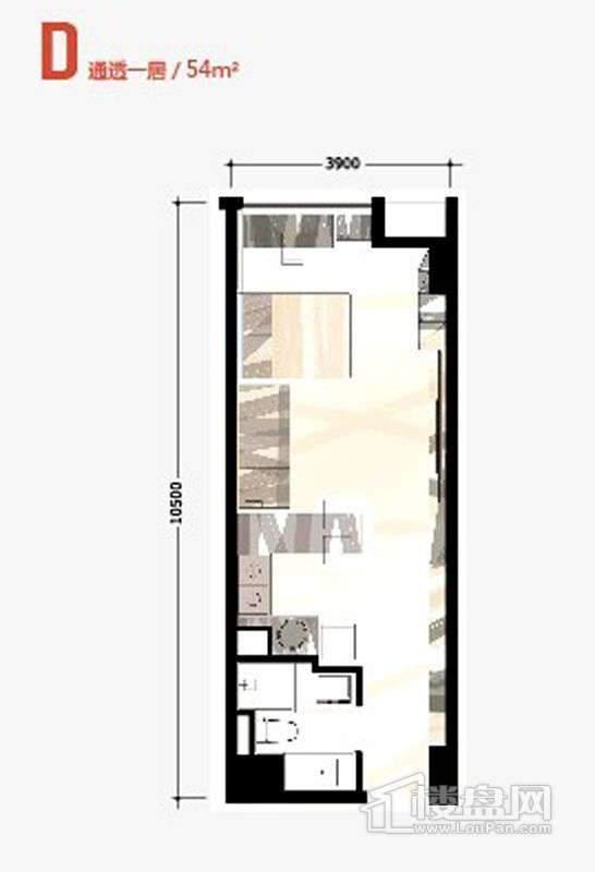 36号楼标准层D户型