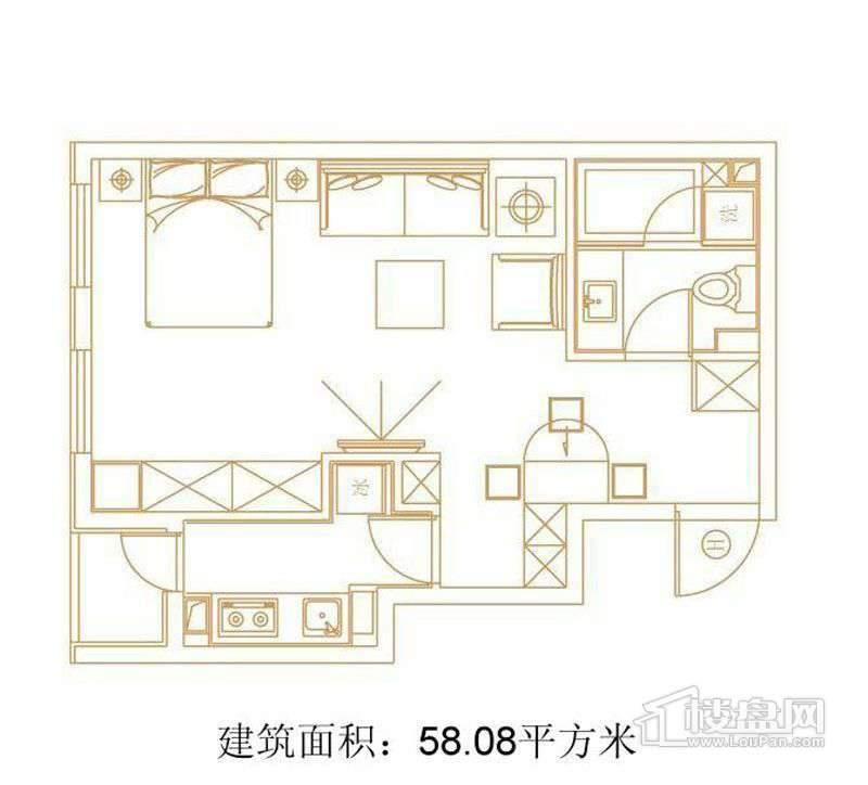 1号楼标准层H户型