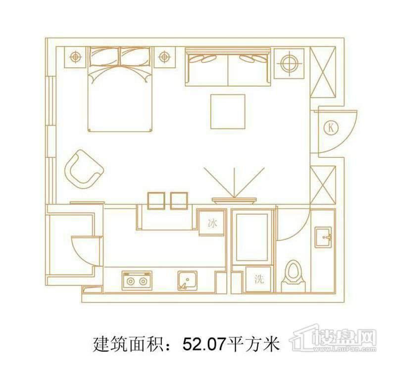 1号楼标准层K户型