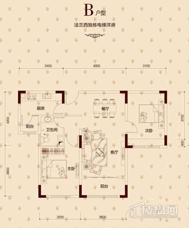 一期洋房16-18#,28-36#楼B户型