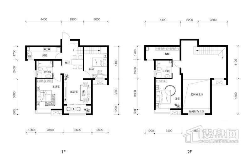 7、8、9号楼高层标准层B3户型