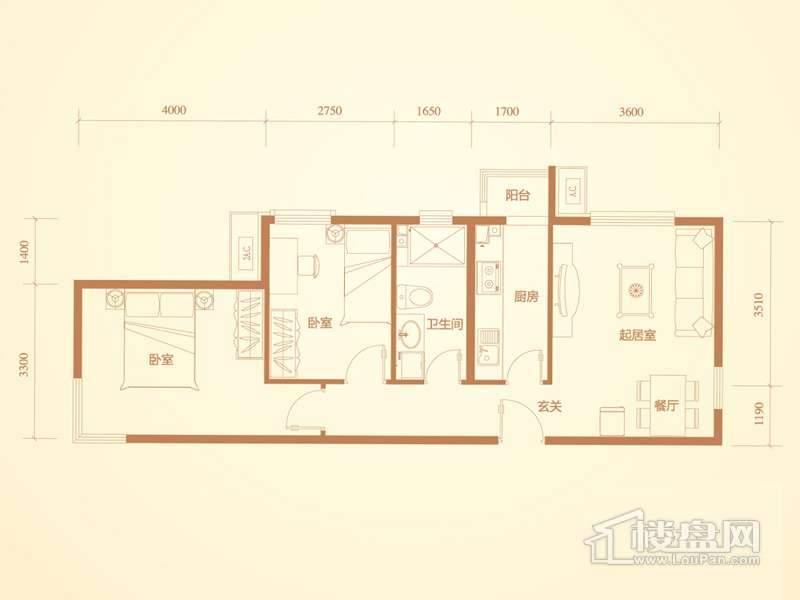 洋房标准层A3户型