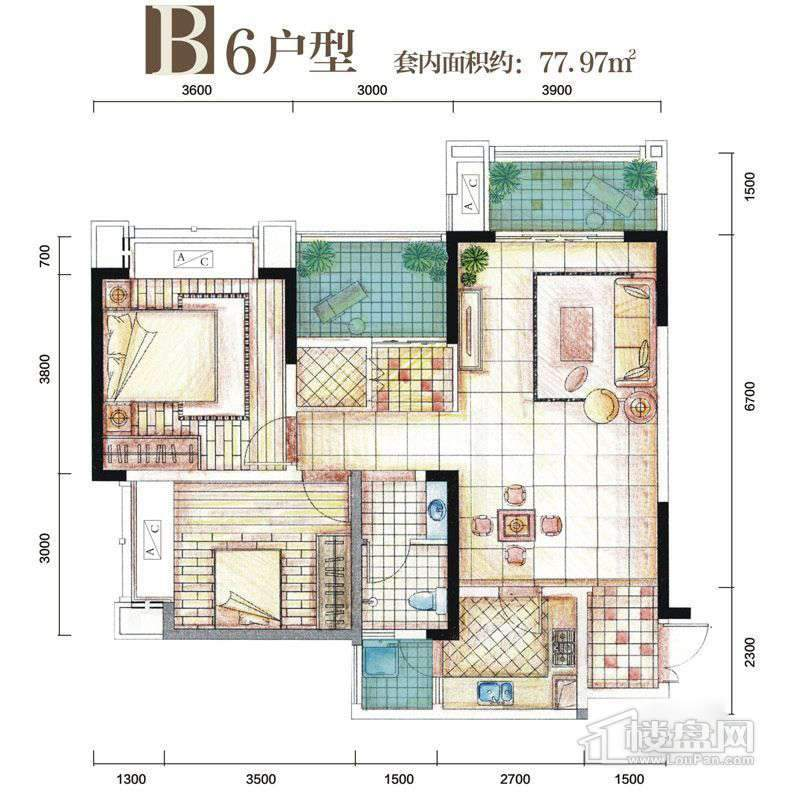 B6 户型图