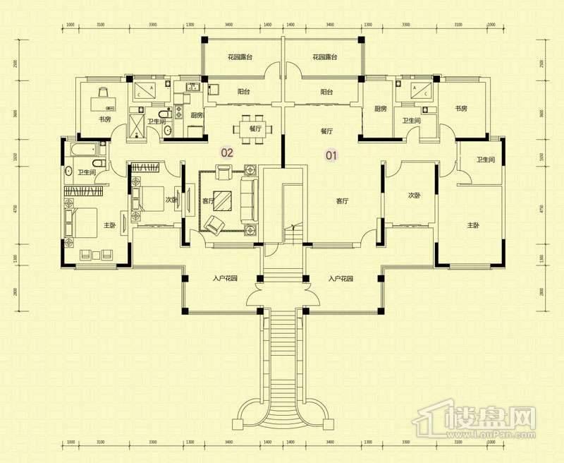 4-5-21-30-32-33-34叠拼洋房X2二层