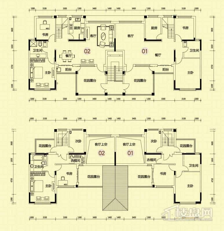 4-5-21-30-32-33-34号楼叠拼洋房X2跃层
