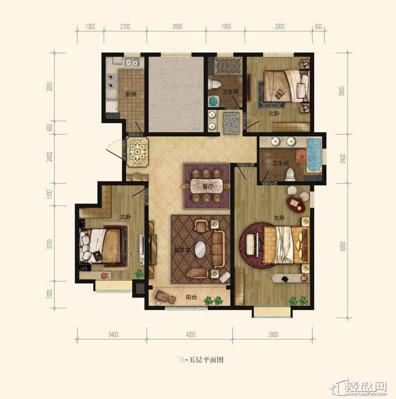 7号楼9号楼10号楼标准层A2户型