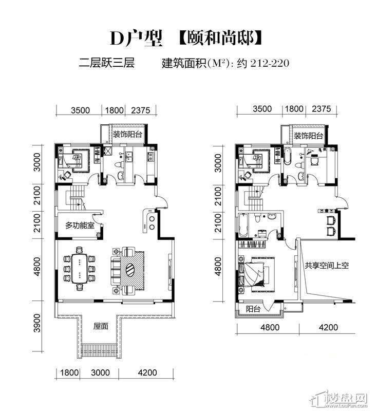 三期高层20号楼标准层F户型