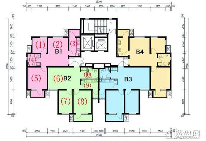 一期1号楼标准层C户型