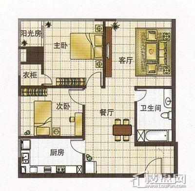 2号楼标准层户型