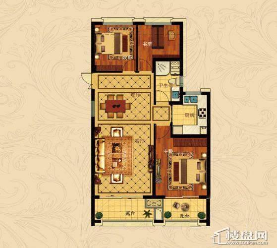 中国铁建国际城B-1(奇数层)3室2厅1卫1厨 88.00㎡