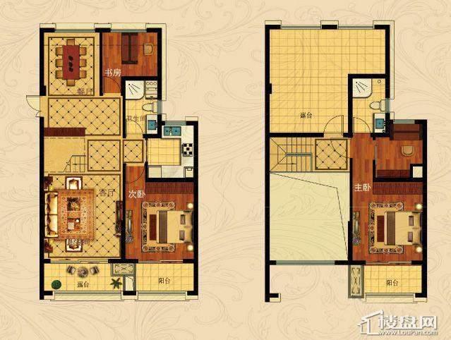 中国铁建国际城B-1(跃层)3室2厅2卫1厨 132.00㎡