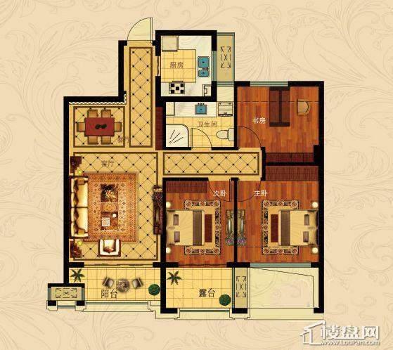 中国铁建国际城B-2(偶数层)3室2厅1卫1厨 88.00㎡