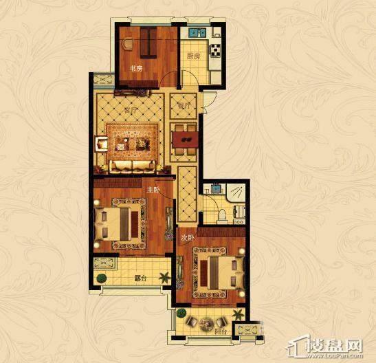 中国铁建国际城B-3(奇数层)3室2厅1卫1厨 88.00㎡