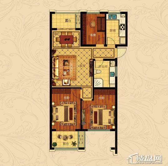 中国铁建国际城B-5(偶数层)3室2厅1卫1厨 88.00㎡