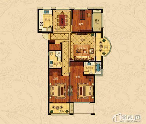 中国铁建国际城C-3(奇数层)3室2厅2卫1厨 127.00㎡