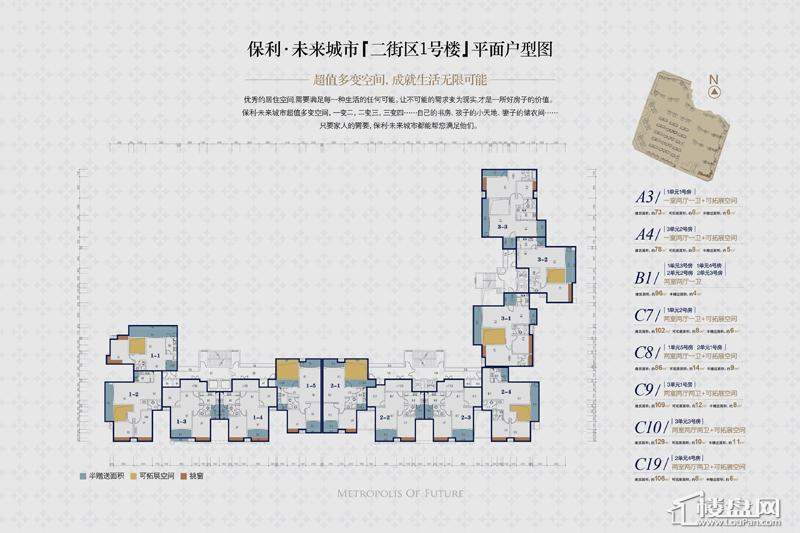 保利·未来城市户型图
