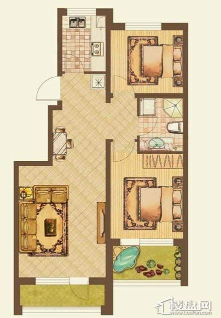 七星九龙湾户型图b2室2厅1卫 82.47㎡
