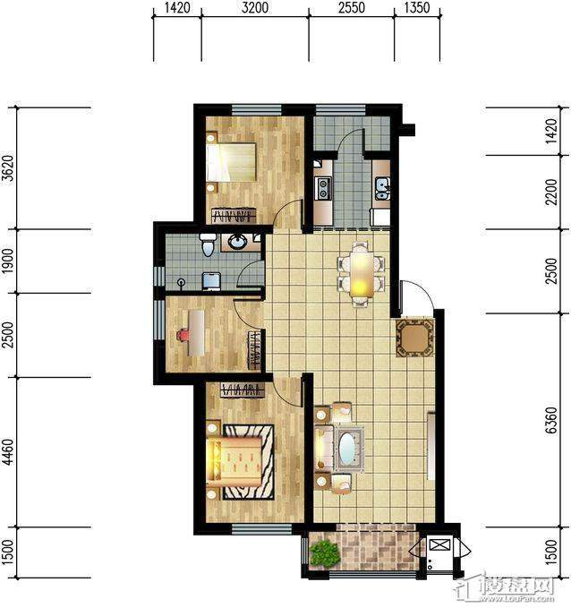 M5爱慕城·QQ公寓户型图