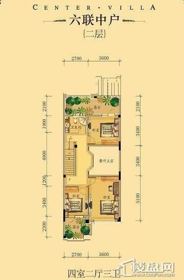 中海龙湾二期六联中户四室二厅三卫-18 223.00㎡