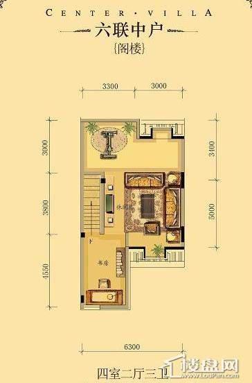 中海龙湾二期六联中户四室二厅三卫-20 223.00㎡