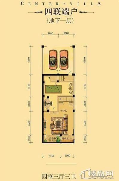 中海龙湾二期四联端户四室三厅三卫-01 313.00㎡
