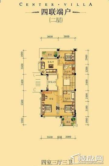 中海龙湾二期四联端户四室三厅三卫-03 313.00㎡