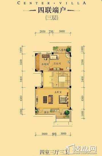中海龙湾二期四联端户四室三厅三卫-04 313.00㎡