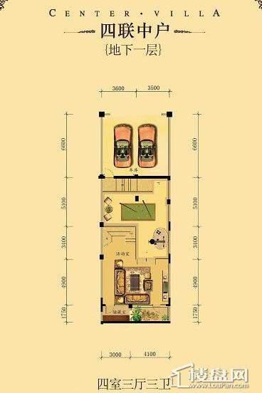中海龙湾二期四联中户四室三厅三卫-06 227.00㎡