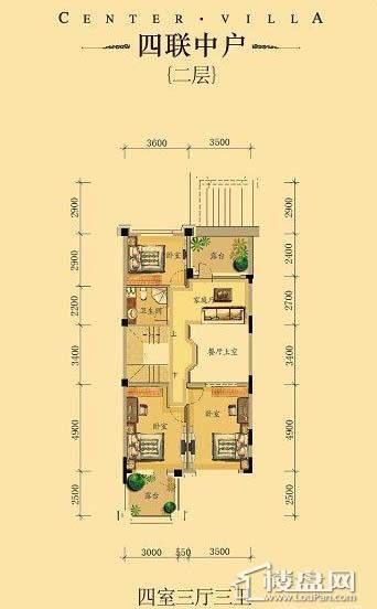 中海龙湾二期四联中户四室三厅三卫-08 227.00㎡