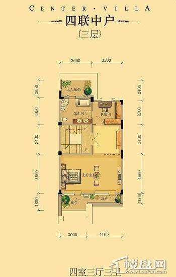 中海龙湾二期四联中户四室三厅三卫-09 227.00㎡