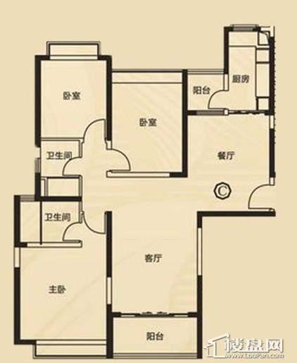 三期7、8号楼1单元C户型3室2厅2卫1厨