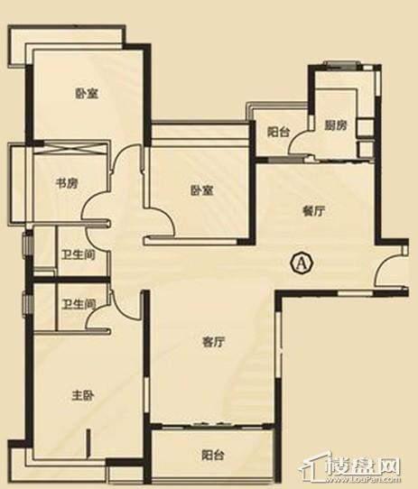 三期7、8号楼3单元A户型4室2厅2卫1厨