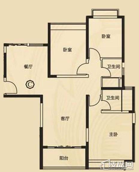 三期7、8号楼3单元C户型3室2厅2卫1厨