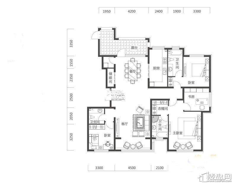 奥园·国际城E2户型3室2厅3卫1厨