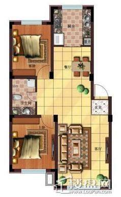 雷明锦程户型图F2室2厅1卫88.92㎡2室2厅1卫1厨 88.92㎡.
