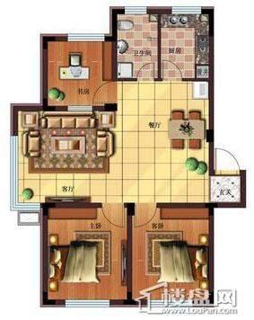 雷明锦程户型图G3室2厅1卫94.03㎡3室2厅1卫1厨 94.03㎡.
