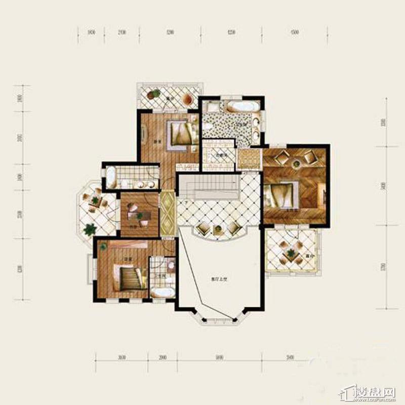 保利十二橡树庄园A户型-二层平面图