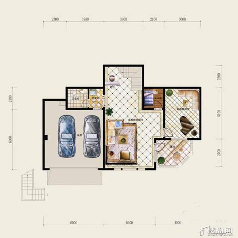 保利十二橡树庄园B户型-地下室平面图