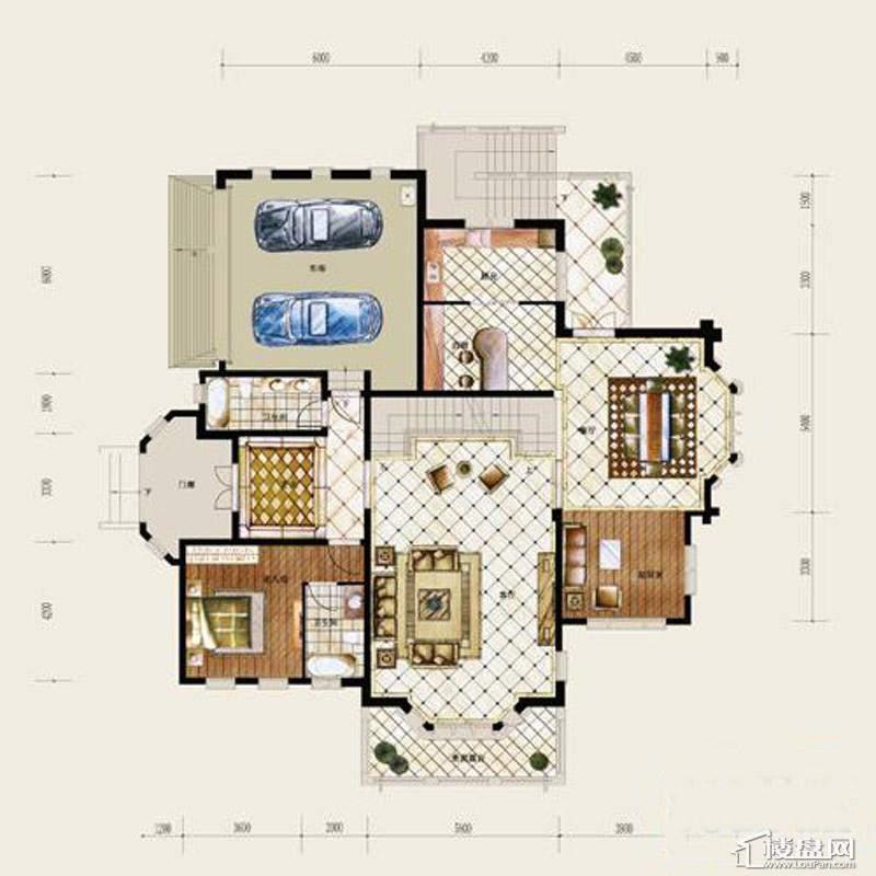 保利十二橡树庄园A户型-地下室平面图