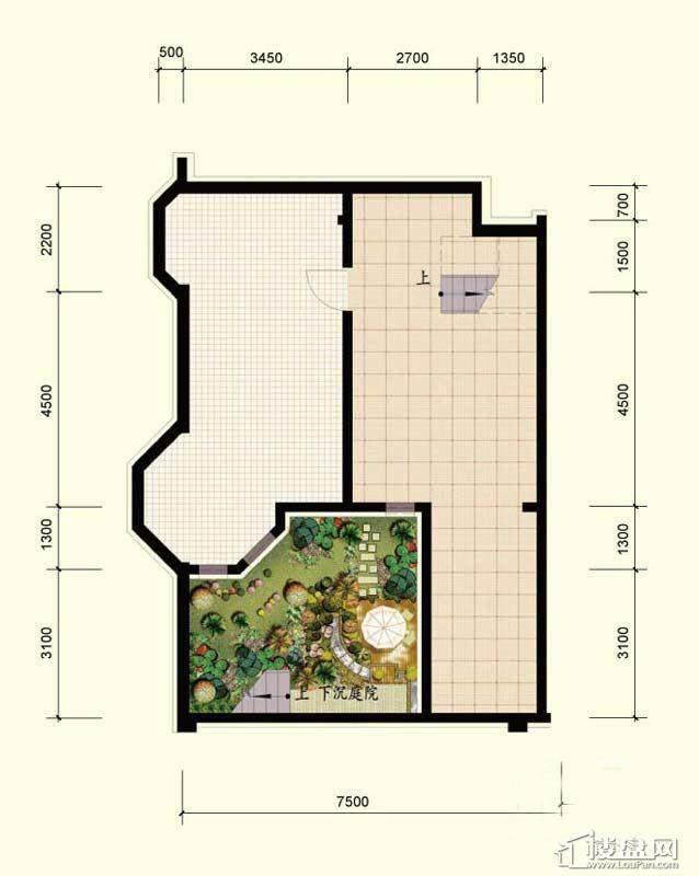 北国奥林匹克花园D1-2户型3室2厅2卫1厨