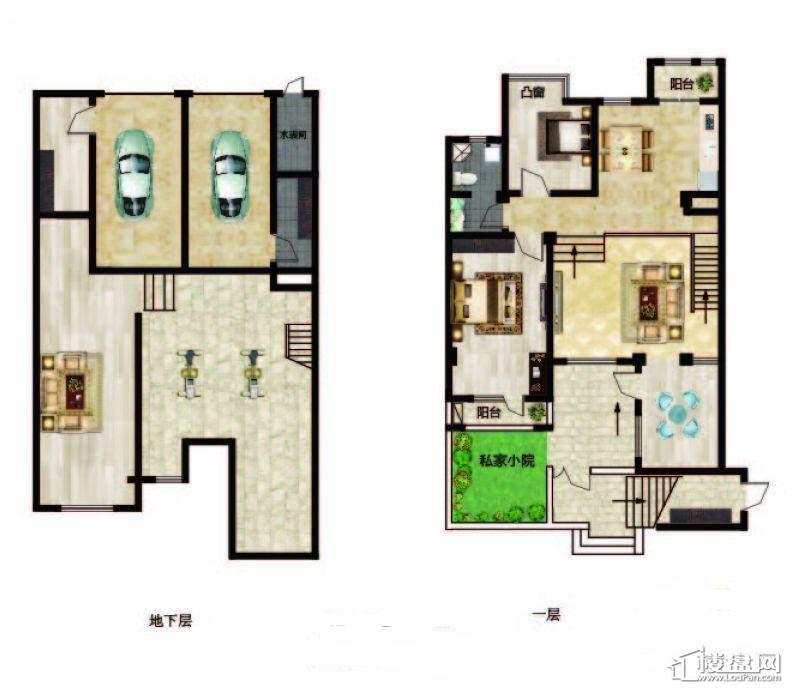 长堤湾户型图Y1-1-012室2厅1卫1厨