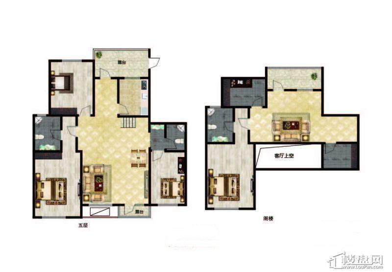 长堤湾户型图Y2-1-013室2厅2卫1厨