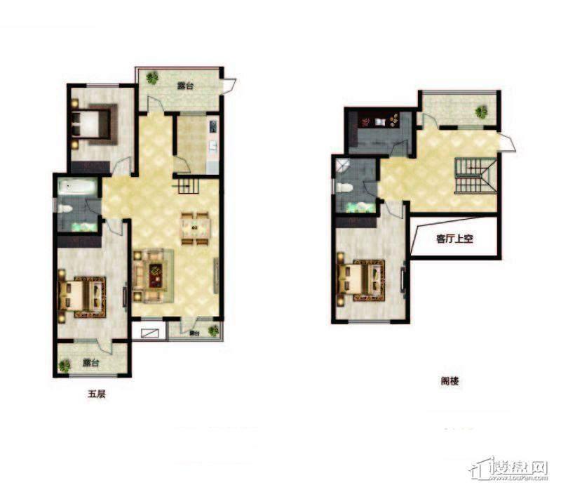 长堤湾户型图Y2-2-012室2厅1卫1厨