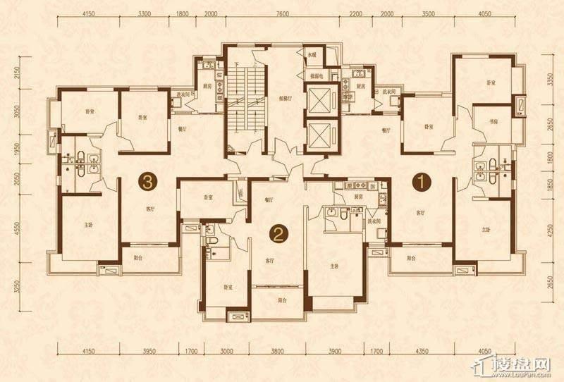 沈阳恒大名都2#4#(2-33)平层图4室2厅2卫