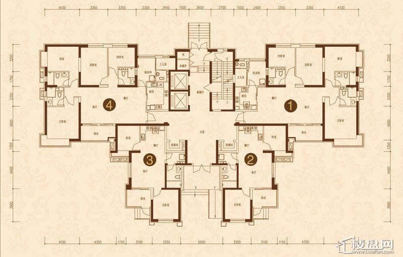沈阳恒大名都8#(首层)平层图3室2厅2卫