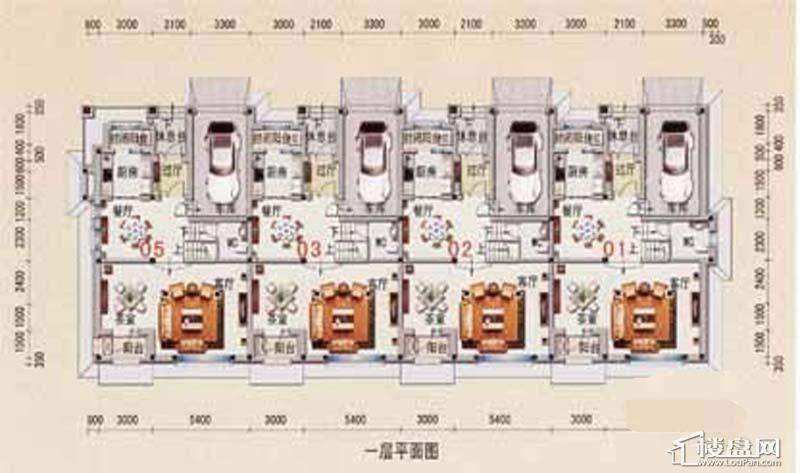 沈阳碧桂园A户型1层平面图