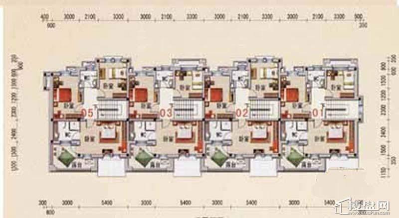 沈阳碧桂园A户型2层平面图