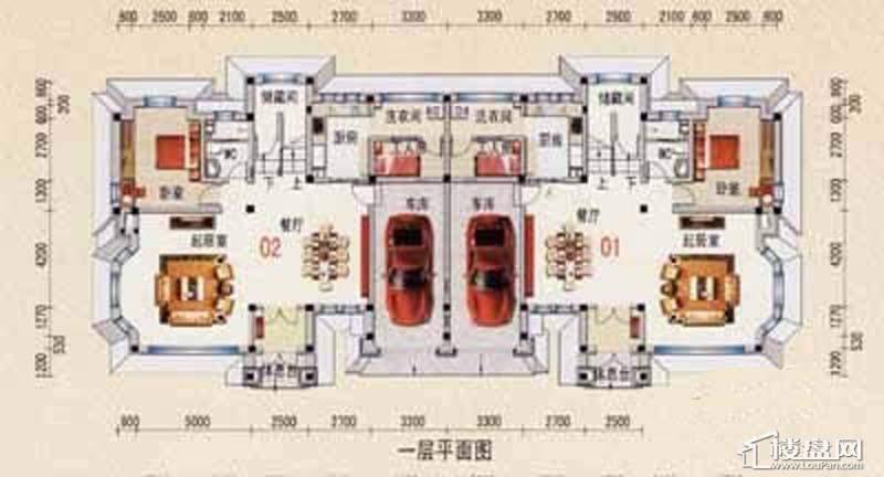 沈阳碧桂园B户型1层平面图