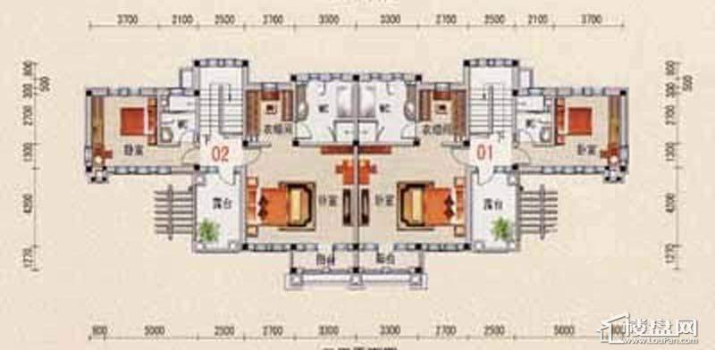 沈阳碧桂园B户型2层平面图